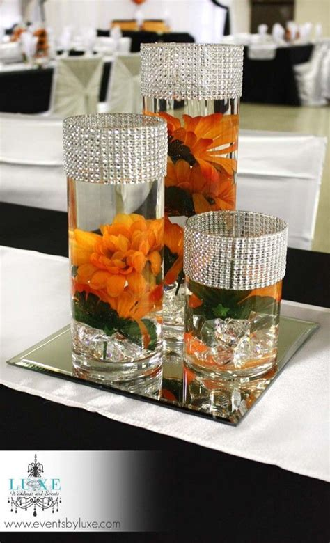 Orange, Black and White Wedding Decor in London Ontario