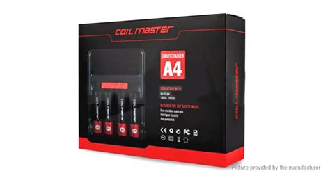 R60 Authentic Coil Master 2 Slot 26650 Battery Rubber Si 23 76 Authentic Coil Master A4 Charger 4 Slot 18650 26650