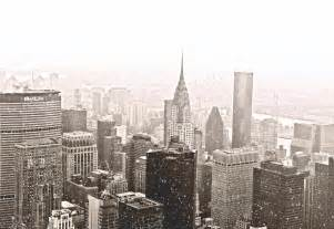 Cityscape Duvet New York Winter Skyline In The Snow Photograph By