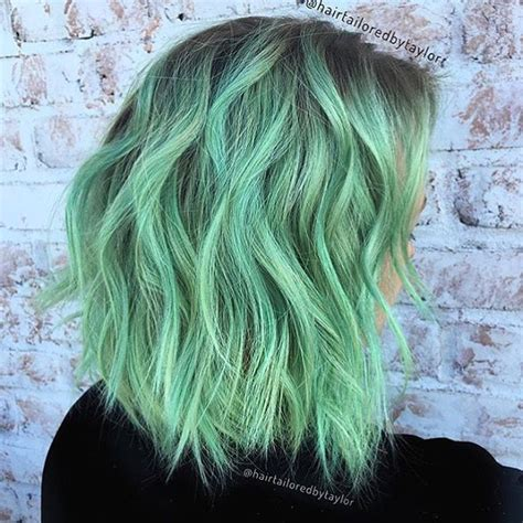 mint color hair the 25 best mint green hair dye ideas on teal