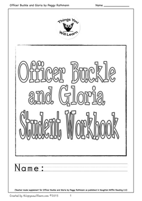 Officer Buckle And Gloria Activities by Thingsyouwilllearn S Shop Teaching Resources Tes
