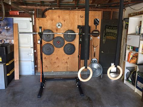 home with diy wall weight rack homegym