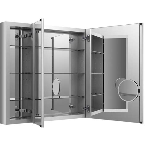 mirrored medicine cabinet shop kohler verdera 40 in x 30 in rectangle surface recessed mirrored aluminum medicine cabinet