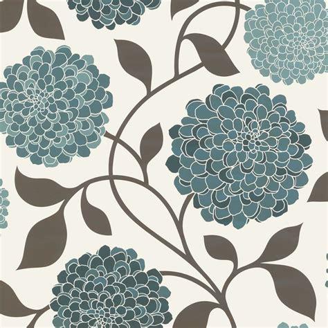 cream and brown pattern wallpaper designer selection bloom floral designer feature wallpaper