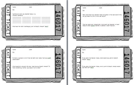 formative assessment with exit tickets