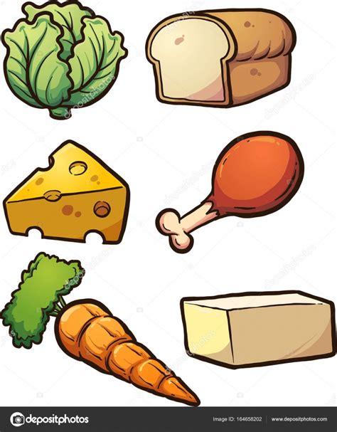dibujo alimentos alimentos de dibujos animados vector de stock