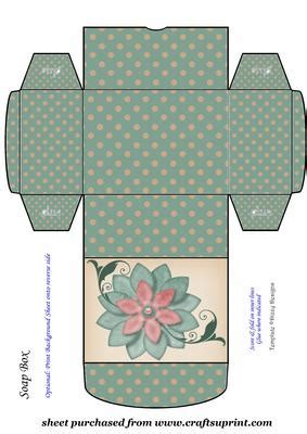 Card Template Bag by Green Floral Soap Gift Box 1 Cup515319 539 Craftsuprint