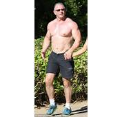 Chef Robert Irvine 49 Displays Ripped Chest On Romantic Stroll With