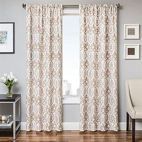 White Gold Curtains Buy Halo 84 Inch Window Curtain Panel In White Gold From Bed Bath Beyond