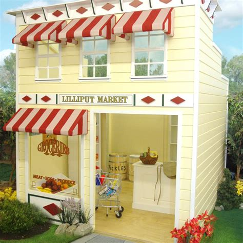 Awnings For Homes Outdoor Wooden Play Homes Kids Grocery Market Playhouse