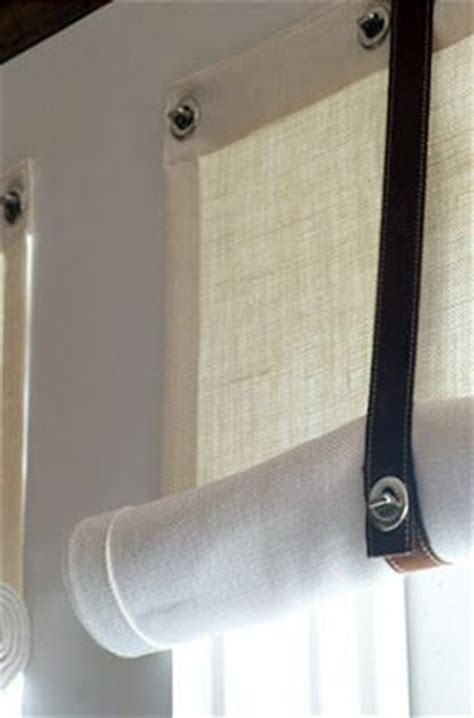 curtain rivets sailcloth curtains hung with rivets and and tied with top