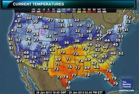 temperature map usa yesterday het klimaat in de vs het klimaat