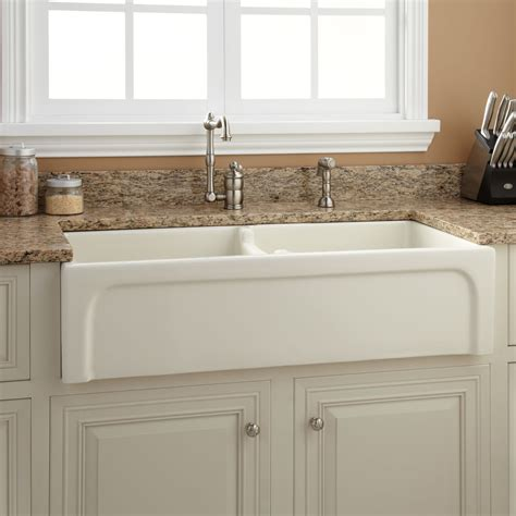 Fireclay Kitchen Sinks by 39 Quot Risinger Bowl Fireclay Farmhouse Sink