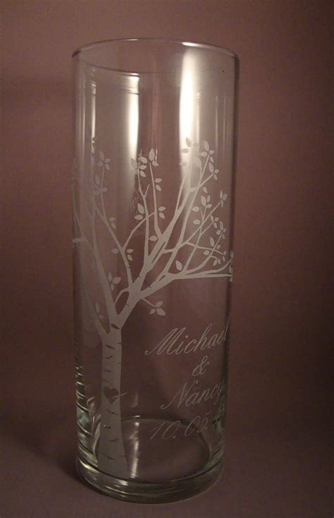 Unity Vases by Wedding Unity Candle Vase Rustic Blooming By Winstonglassworks