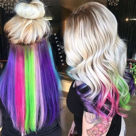 hair color underneath best 25 underneath hair colors ideas on dying