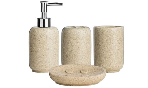 Stone Effect Bathroom Accessories Groupon Goods Effect Bathroom Accessories