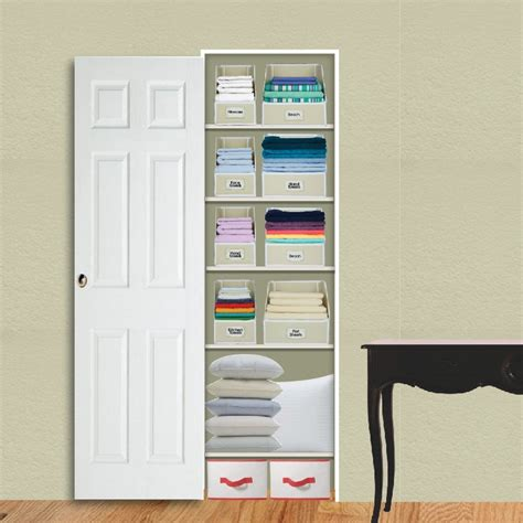 shallow linen closet organization storage ideas pinterest 1000 images about home linen closet on pinterest