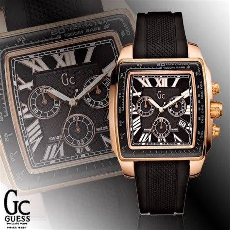 Guess 3chrono Gold guess gc 35503 ga square gold chrono and 50 similar items