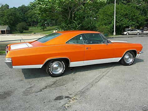 orange impala chevrolet impala 1965 2d ht orange