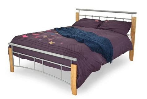 Metal Beds Kentucky 4ft 120cm Small Double Silver And 120cm Bed Frame