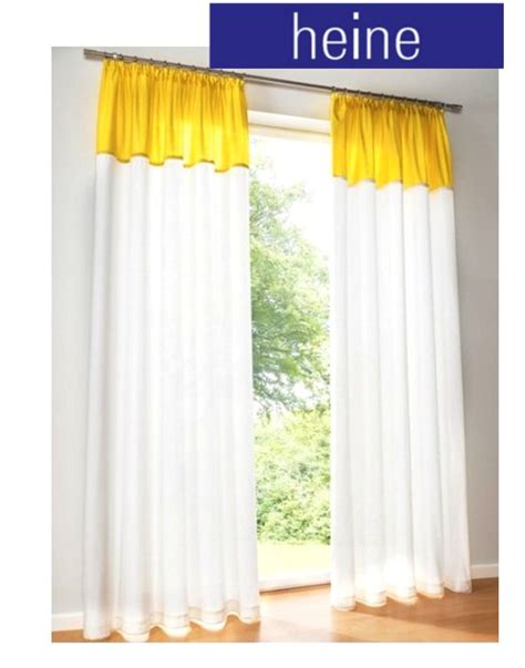 panels 145 175 245 white yellow curtains piping heine - Vorhang Gelb