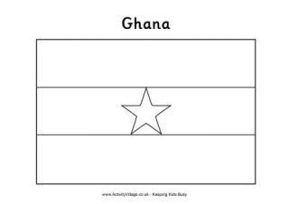 ghana flag printables