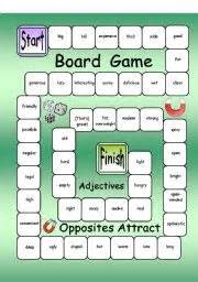 english teaching worksheets adjectives games