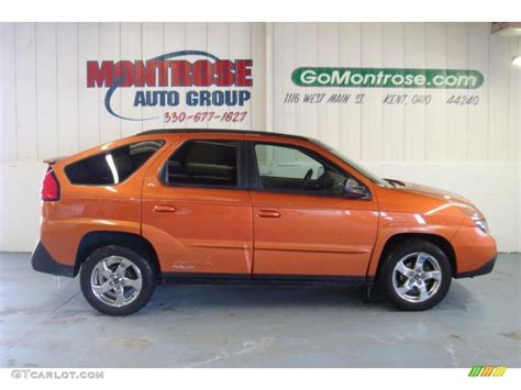 pontiac aztek red 2005 fusion orange metallic pontiac aztek rally edition