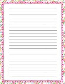 Free Writing Paper With Borders Elegant Floral Free Printable Stationery For Kids Primary