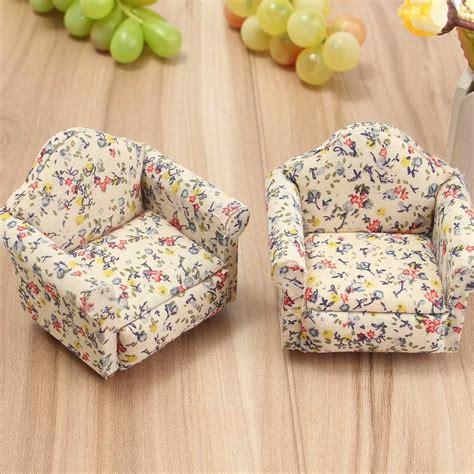 Bantal Sofa Dekorasi Gift Flower aliexpress buy 2pcs set floral pattern flower miniatura sofa furniture sets doll house