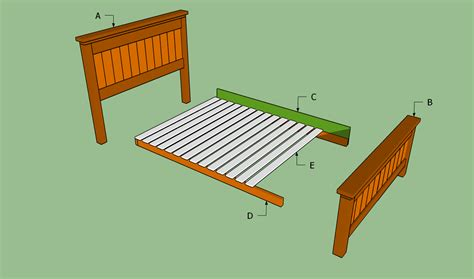 dimensions of a queen bed frame queen size bed frame plans bed plans diy blueprints
