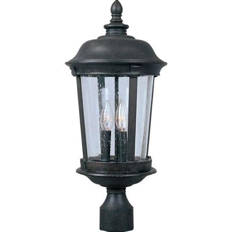 maxim outdoor lighting maxim lighting dover vivex 3 light bronze outdoor pole