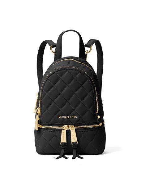Mk Rhea Xs 2 michael michael kors rhea xs quilted messenger backpack
