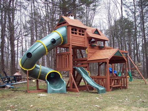 outdoor playsets plans big backyard wood