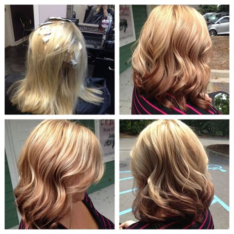 reverse ombre highlights reverse ombre with irish cream and red highlights hair