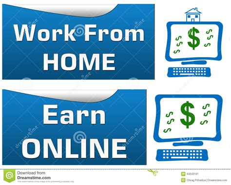 Work Online From Home Free - work from home earn online stock illustration image 44243191