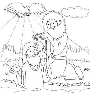 baptism coloring pages 25 best jesus baptism craft ideas on