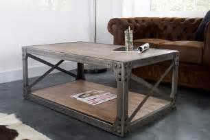 table basse bois et metal pas cher table basse