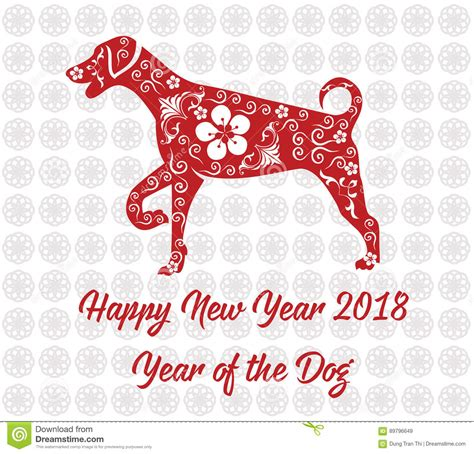 new year 2018 animal and color happy new year 2018 card year of