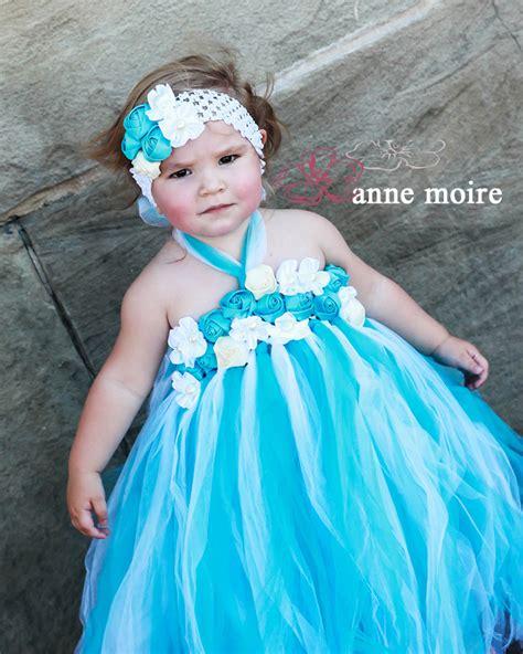 Dress Tutu Blue White blue turquoise and white tutu flower dresses for