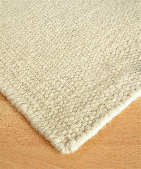 Wool Berber Area Rug White Flour Wool Berber Solid Rug 3 X 5 Transitional Rugs By Bliss Home Design