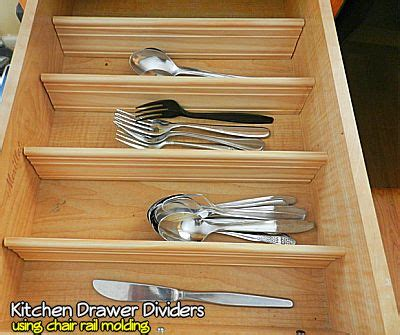 Diy Kitchen Drawer Dividers by Diy Kitchen Drawer Dividers Using Chair Rail Molding