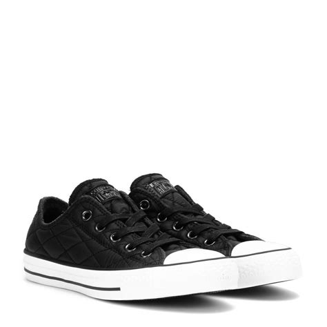 converse black sneakers lyst converse chuck all quilted sneakers in