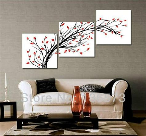 3 Diagonal Wall Art Set Piece Wall Art Set Modern Room Wall Paintings