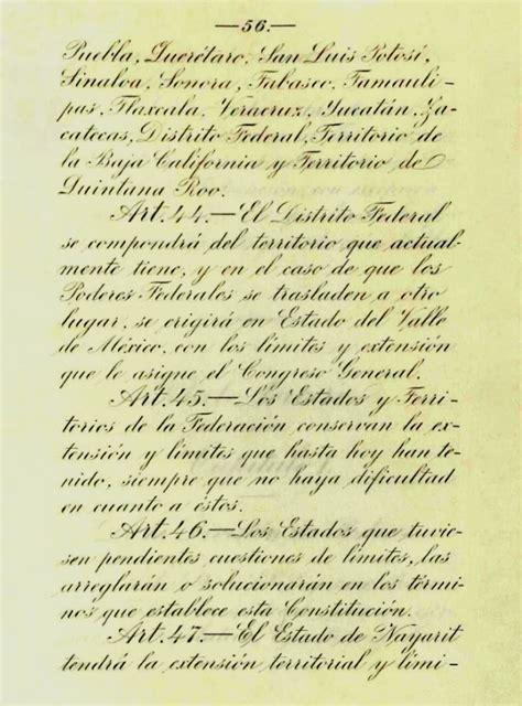 constitucion de 1917 file pagina original del articulo 44 al 47 de la