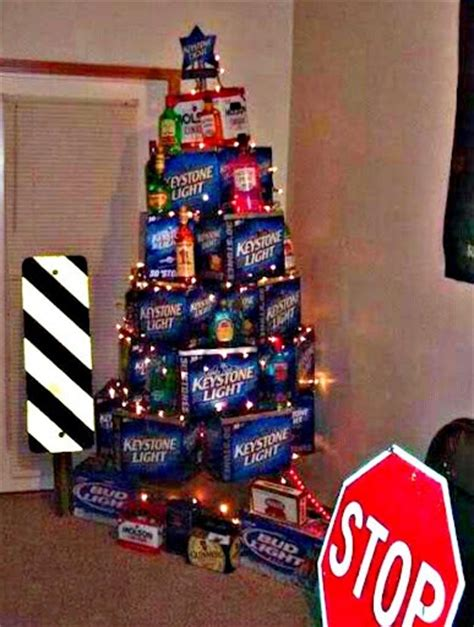 beer christmas tree silly stuff pinterest