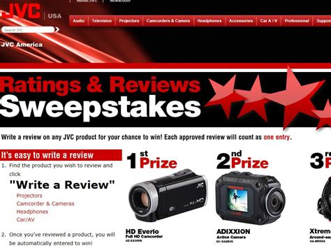 Sweepstakes Today Reviews - jvc ratings reviews sweepstakes