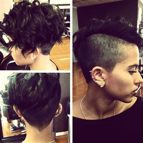 hairstyles for women with thick hair with shaved sided undercut hairstyles for women