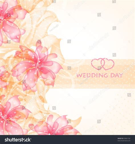 vintage wedding card background images wedding card invitation abstract floral background stock vector 93661192