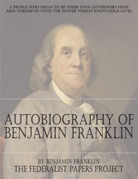 the autobiography of benjamin franklin books autobiography